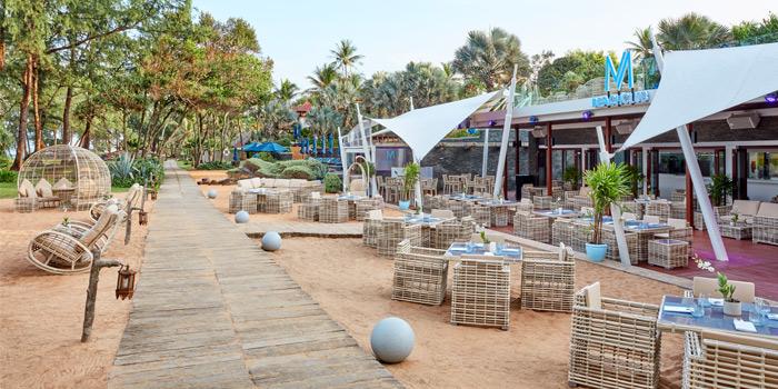 surrounding of M Beach Club at Maikhao,  Phuket, Thailand.