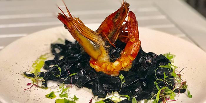 Tagliatelle Al Nero from Vespetta Italian Restaurant in Boat Quay, Singapore