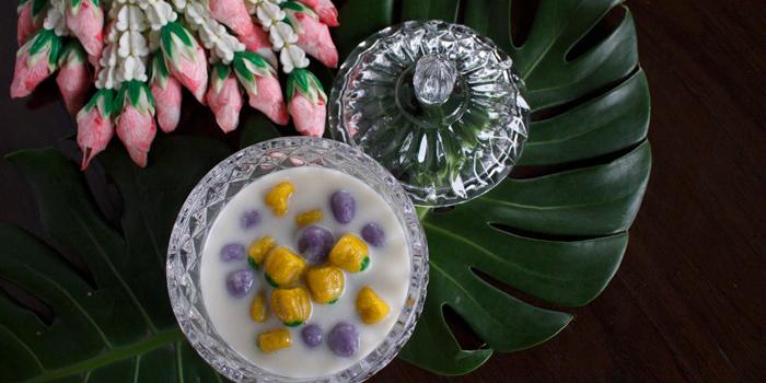 Taro and Pumpkin Ball in Coconut Milk from Supatra River House at 266 Soi Wat Rakhang Arunamarin Road Siriraj, Bangkok Noi Bangkok
