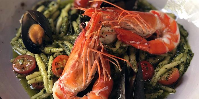 Trofiette Mare E Pest from Vespetta Italian Restaurant in Boat Quay, Singapore