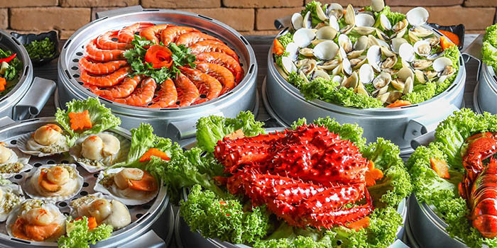 Seafood Spread from Captain K Seafood Tower at Midland House in Bugis, Singapore