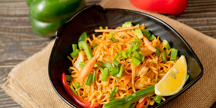 Fired Noodles, Woodlands Indian Vegetarian Restaurant, Tsim Sha Tsui, Hong Kong