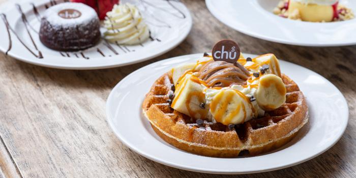 Waffles Banana from Chu Chocolate Bar and Cafe (Asoke) at 388 Exchange Tower Sukhumvit Rd, Khlong Toei Bangkok