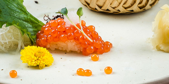 Wild Uncured Salmon Roe Sushi, Kishoku, Causeway Bay, Hong Kong