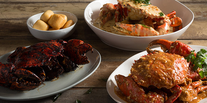 Crabs from Palm Beach Seafood Restaurant in One Fullerton, Singapore