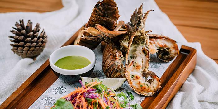 Food from Shrimp Is Restaurant, Seminyak, Bali