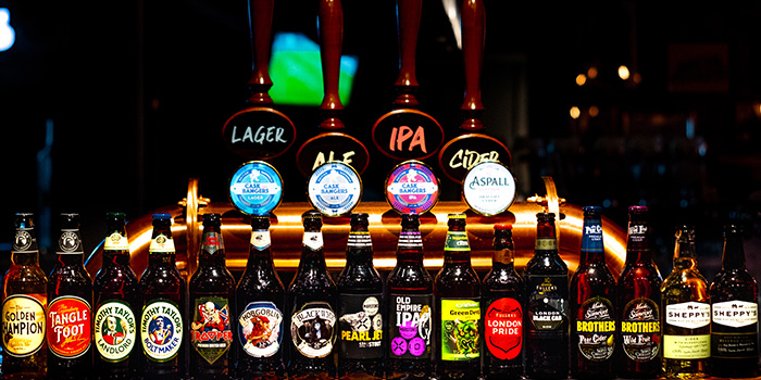 Beers from Cask and Bangers in Clarke Quay, Singapore