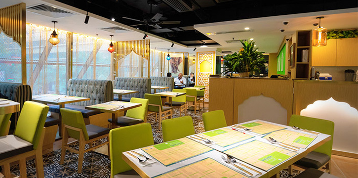Interior, Woodlands Indian Vegetarian Restaurant, Tsim Sha Tsui, Hong Kong