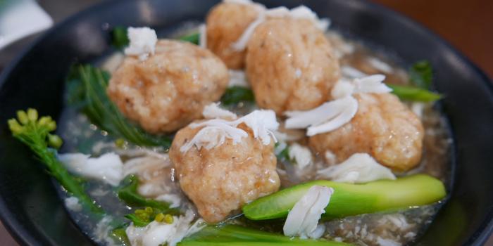 Deep Fried Shrimp Ball with Crab Meat Gravy from Baan Kanploo at 445/1 Pradit Manutham Road Wang Thonglang, Bangkok