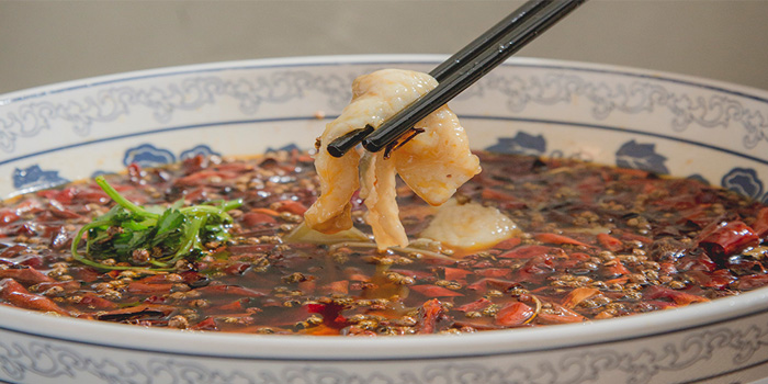 Fish Fillet in Chili Broth, Sichuan Cuisine Da Ping Huo, Central, Hong Kong