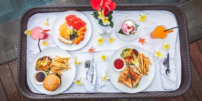 Food from The Amateras Restaurant, Ubud, Bali