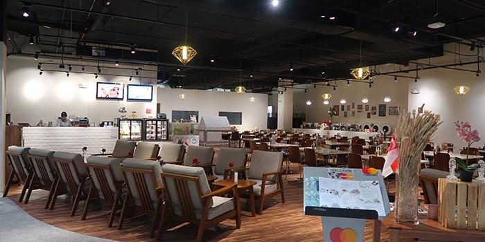 Interior of Three Degree Cafe at NTU Alumni Club in Buona Vista, Singapore