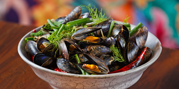 Mussels Pot from Le cochon Blanc at 26 Soi Phrom Chit Khlong Tan Nuea, Watthana Bangkok