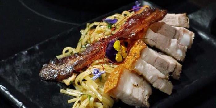Roasted Pork and Prawn Pasta from NJ Relish at Ascott Raffles Place in Raffles Place, Singapore