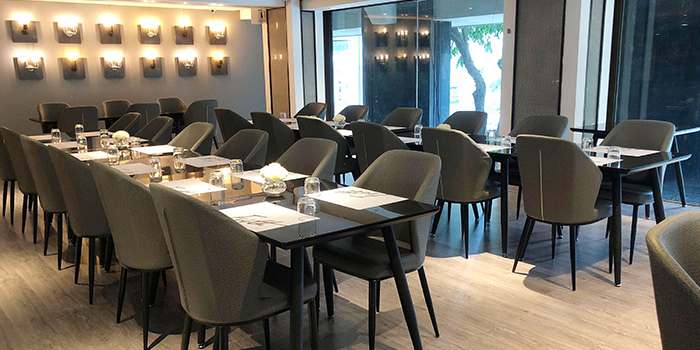 Seatings of NJ Relish at Ascott Raffles Place in Raffles Place, Singapore