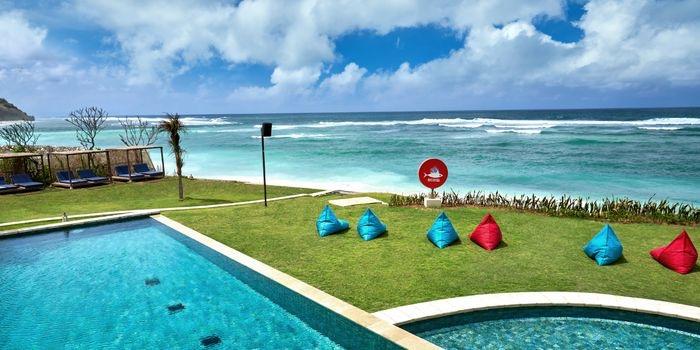 Pool from Roosterfish Beach Club at Uluwatu, Bali