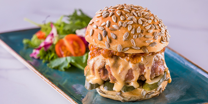 Grilled Tuna Burger from Verde Kitchen at Hilton Singapore in Orchard, Singapore