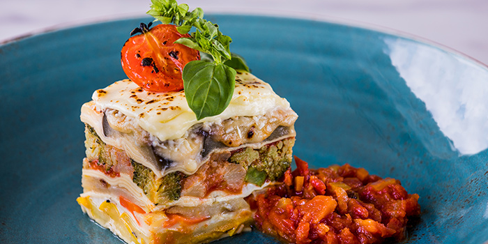 Local Farmed Vegetable Lasagne from Verde Kitchen at Hilton Singapore in Orchard, Singapore