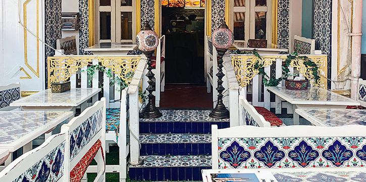 Interior of Ayasofya Turkish Restaurant in Bugis, Singapore