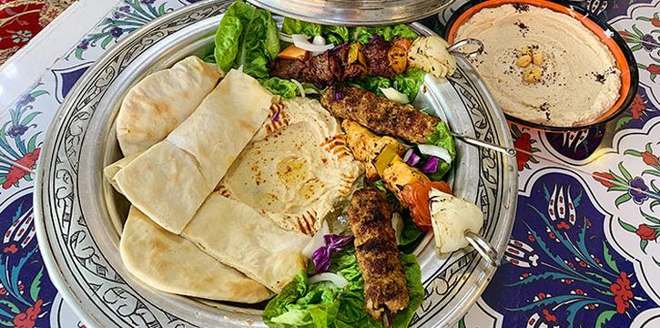 Kebab Platterfrom Ayasofya Turkish Restaurant in Bugis, Singapore