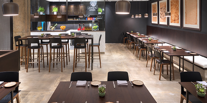 Interior of Verde Kitchen at Hilton Singapore in Orchard, Singapore