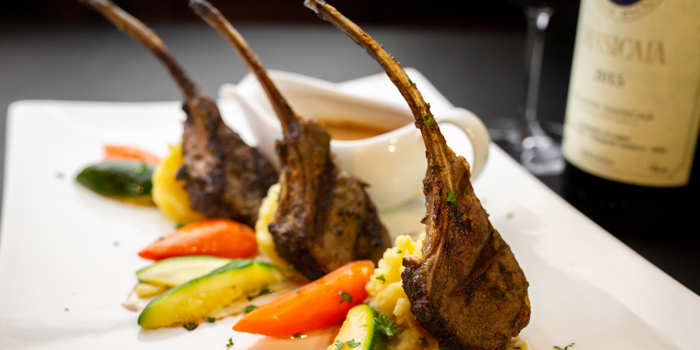 Australian rack of Lambs grilled with Garlic from Sala Rossa at The Grand Building Soi Mahadlekluang 2,Rajdamri Rd Lumpini,Pathumwan Bangkok