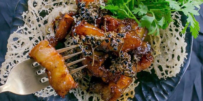 Deep Fried Pork Belly Marinated from Yelo Cafe at 20/2 Rama I Rd Khwaeng Wang Mai, Khet Pathum Wan Bangkok