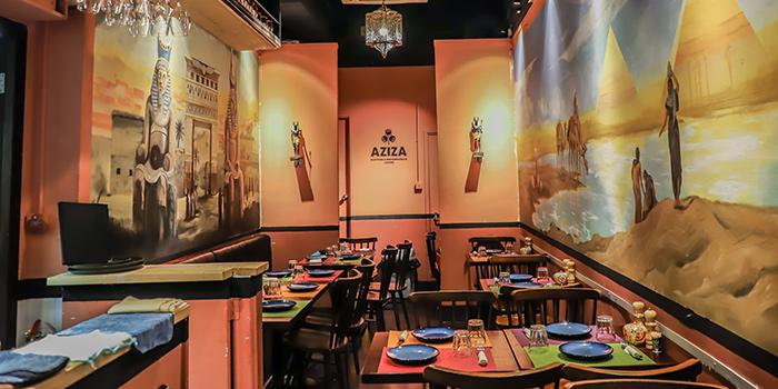 Dining Area, AZIZA, Kennedy Town, Hong Kong