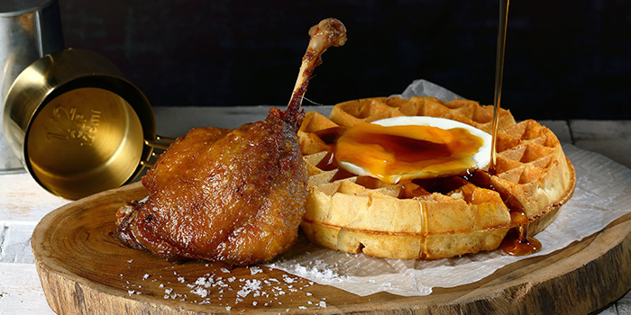 Duck Confit &Waffle from Duckland at United Square Shopping Mall in Novena, Singapore
