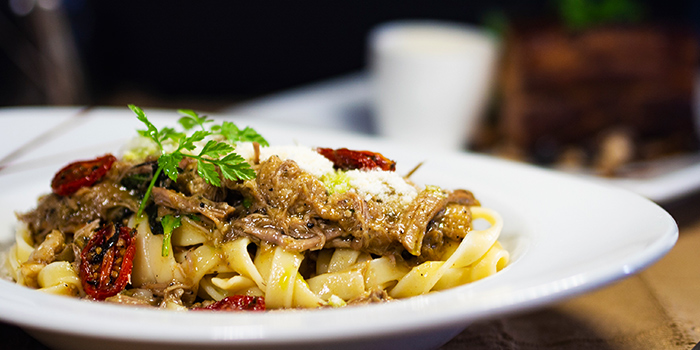 Duck Ragu Tagliatelle from Mr Punch Public House in City Hall, Singapore
