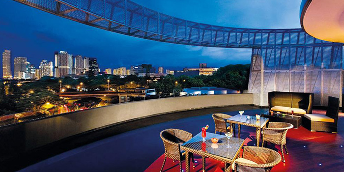 Exterior of J Bar at M Hotel Singapore in Tanjong Pagar, Singapore