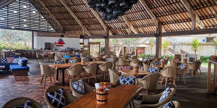 Interior from Roosterfish Beach Club at Uluwatu, Bali
