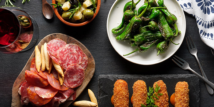 Food Spread from La Taperia Wine & Tapas at Shaw Centre in Orchard, Singapore