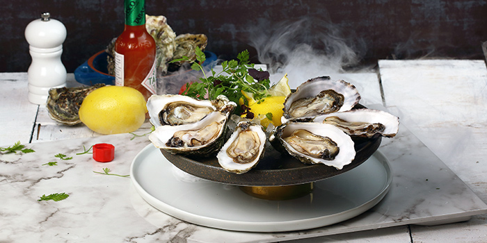 Fresh Juicy Oysters from Duckland at United Square Shopping Mall in Novena, Singapore