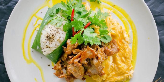 Grilled Pork with Toasted Perilla from Yelo Cafe at 20/2 Rama I Rd Khwaeng Wang Mai, Khet Pathum Wan Bangkok
