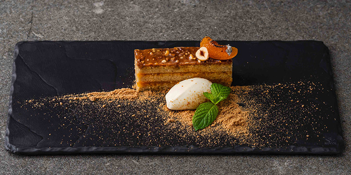 Hazelnut and Apricot Mint Gateau from The Knolls on Sentosa Island, Singapore