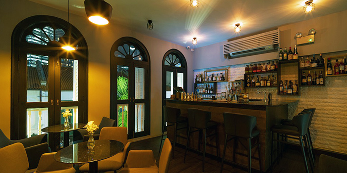 Interior of The Lounge Bar in Duxton, Singapore