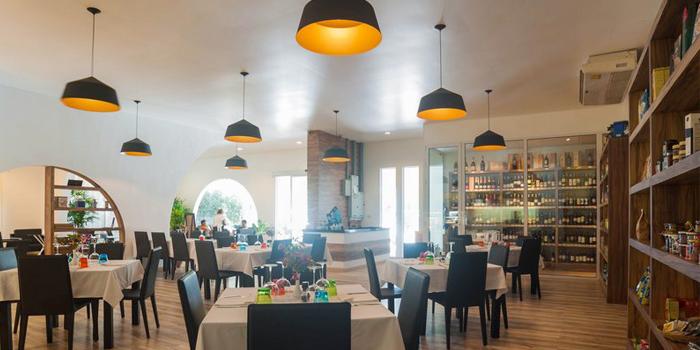 Interior of Bocconcino Cafe in Cherngtalay, Phuket, Thailand