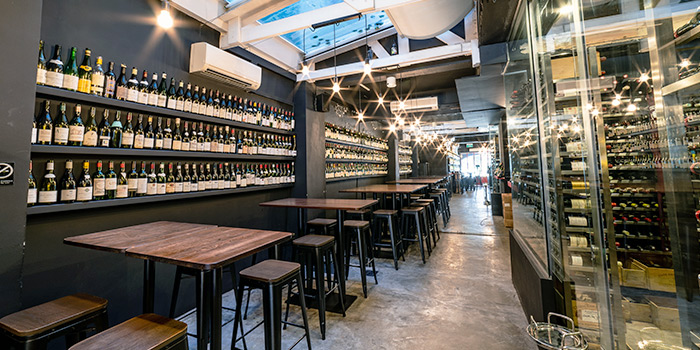 Interior from LQV Le Quinze Vins in Telok Ayer, Singapore