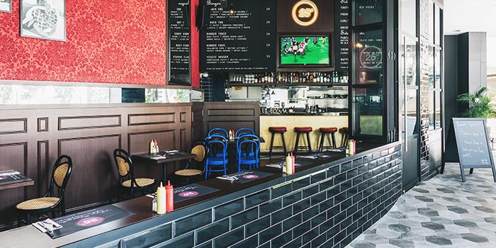 Interior from 25 Degrees Burgers & Liquor Bar in Bugis, Singapore