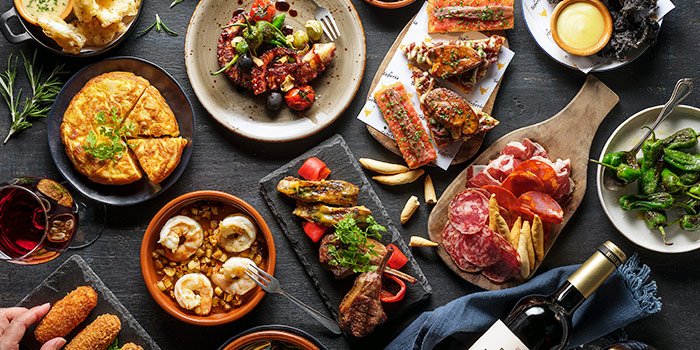 Tapas Spread from La Taperia Wine & Tapas at Shaw Centre in Orchard, Singapore