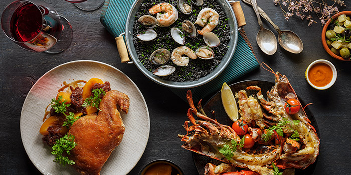 Assorted Mains from La Taperia Wine & Tapas at Shaw Centre in Orchard, Singapore