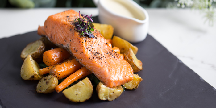 Grilled Salmon and Roasted Potatoes from The Marmalade Pantry (ION Orchard) in Orchard, Singapore