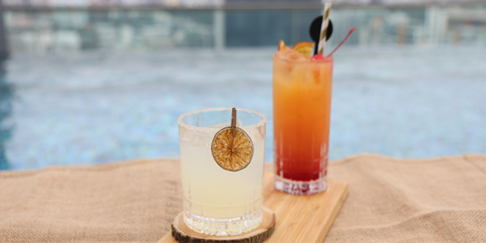 Margarita & Tequila Sunrise from Urbana Rooftop Bar at Courtyard by Marriott Singapore in Novena, Singapore