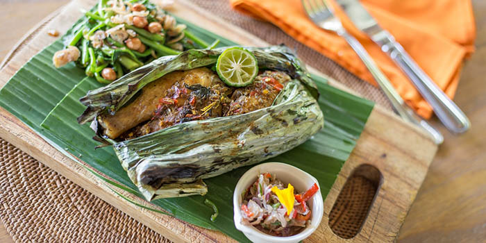 Food from Plataran at Canggu, Bali