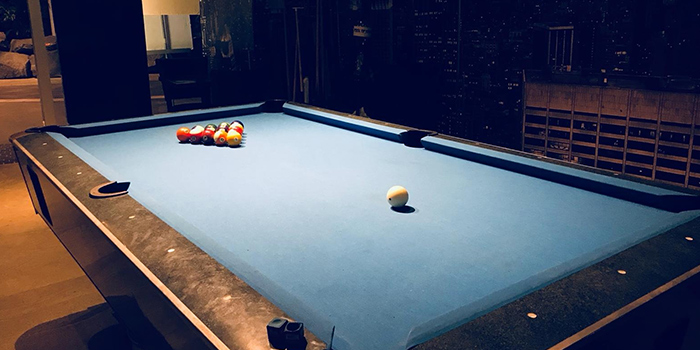 Pool Table of Bistro @ Duo at Duo Galleria in Bugis, Singapore