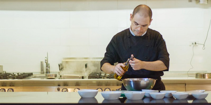 Chef of Bocconcino Cafe in Cherngtalay, Phuket, Thailand