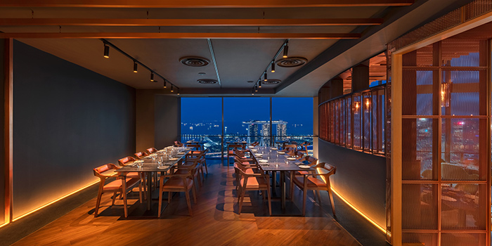Private Dining Room of SKAI Restaurant at Swissotel the Stamford in City Hall, Singapore