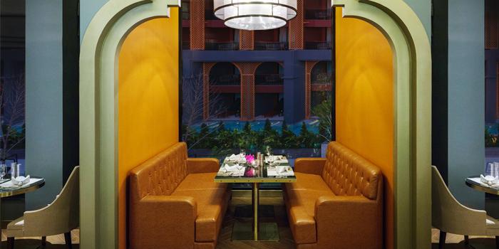 Romantic Dining Area of Portosino in Karon, Phuket, Thailand.