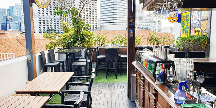 Rooftop Bar from Mr Punch Public House in City Hall, Singapore